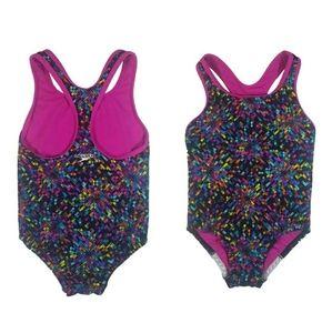 Speedo girls cross-back one piece swimsuit